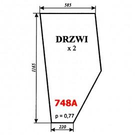 Szyba drzwi (wariant) ciągnika Fortschritt 323-A