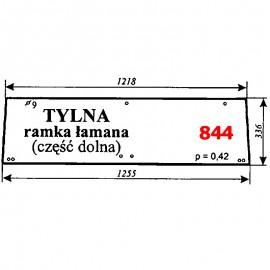 Szyba tylna (ramka) Renault 8514, 9514, 11014, 11314, 10354, 11054