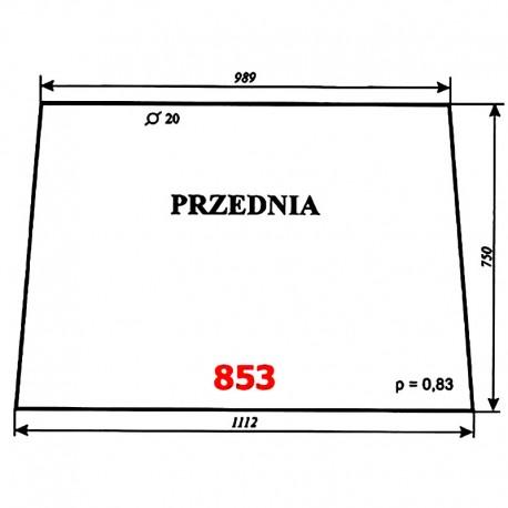 Szyba przednia Fendt Farmer 307, 309, 311 LSA Turbomatic