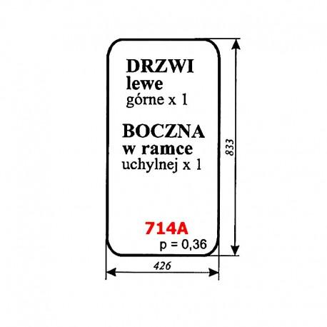 Drzwi lewe górne/boczna w ramce kombajnu Claas Dominator 85