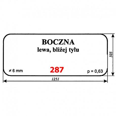 Szyba boczna lewa sieczkarni samojezdnej ORKAN Z320