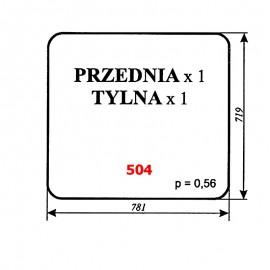Szyba przednia i tylna ładowacza czeskiego UNHZ 750