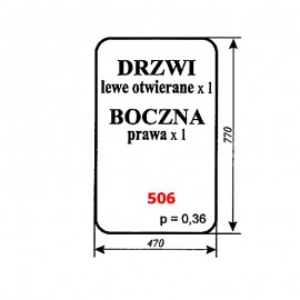 Szyba boczna prawa i drzwi ładowacza czeskiego UNHZ 750