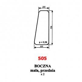 Szyba boczna przednia Å'adowacza czeskiego UNHZ 750
