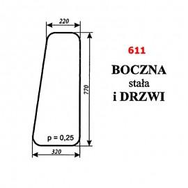 Szyba boczna stała i drzwi ładowacza czeskiego NUJN