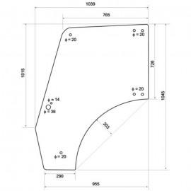 Szyba drzwi (prawych/lewych) SAME Solaris 55