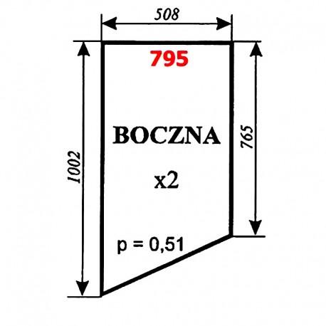 Szyba boczna kombajnu BIZON - kabina Naglak, Koźmin
