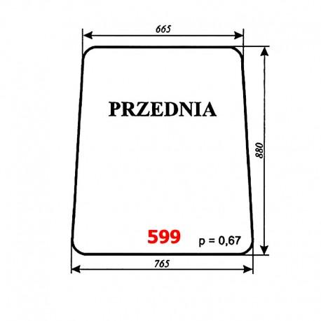 Szyba przednia ładowacza samobieżnego FADROMA Ł200