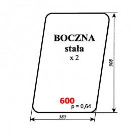 Szyba boczna ładowacza samobieżnego FADROMA Ł200