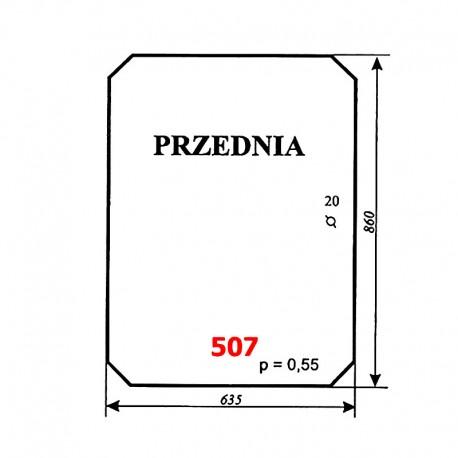 Szyba przednia ładowacza Fortschritt T174-2