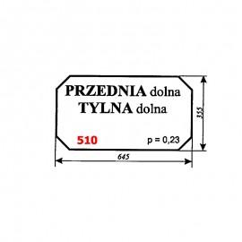 Szyba dolna przednia i tylna ładowacza Fortschritt T174-2