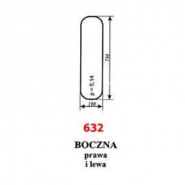 Szyba boczna ładowacza Ł-34 (Stalowa Wola)