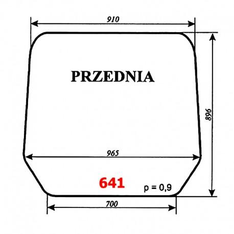 Szyba przednia ładowacza Ł-220 (Fadroma-Bumar)