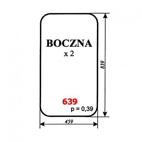 Szyba boczna ładowacza Ł-220 (Fadroma-Bumar)