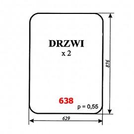 Szyba drzwi ładowacza Ł-220 (Fadroma-Bumar)