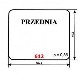 Szyba przednia spycharko-równiarki SHM 4-120
