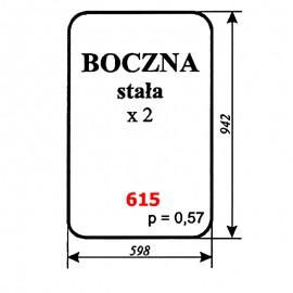 Szyba boczna stała spycharko-równiarki SHM 4-120