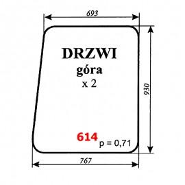 Szyba górna drzwi spycharko-równiarki SHM 4-120