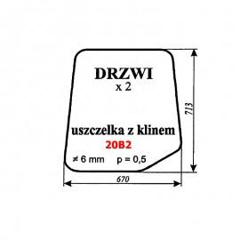 Szyba drzwi (uszczelka z klinem) spycho-koparki Ostrówek (stary typ)