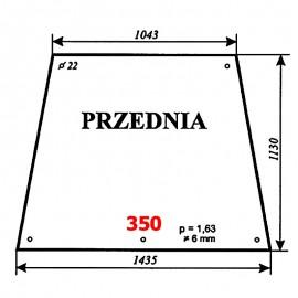 Szyba przednia spycho-koparki Ostrówek 163-10100-00A8