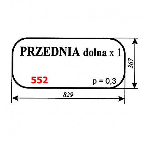 Szyba przednia dolna koparki WARYŃSKI 420-109-00, 420, 622