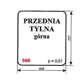 Szyba górna przednia i tylna koparki WARYŃSKI 606-109-00