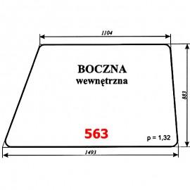 Szyba boczna wewn. koparki WARYŃSKI 406-110-00A, 406, 408, 407