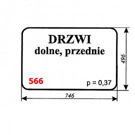 Szyba dolna drzwi koparki WARYŃSKI 406-110-00A, 406, 408, 407