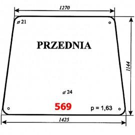 Szyba przednia koparki WARYŃSKI 726A-109A-00