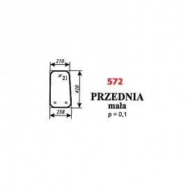 Szyba przednia dolna koparki WARYŃSKI 726A-109A-00