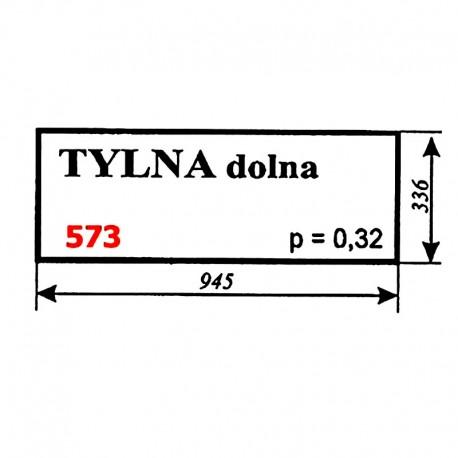 Szyba tylna dolna koparki WARYŃSKI 726A-109A-00