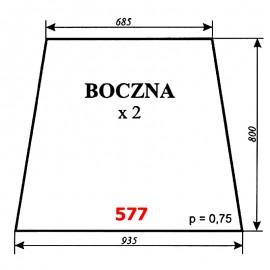 Szyba boczna koparki WARYŃSKI 250M-109-00A, M-250-H