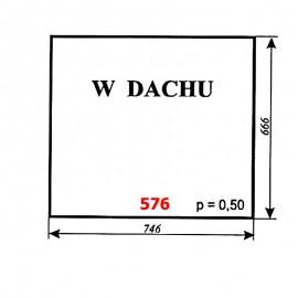 Szyba dachowa koparki WARYŃSKI 250M-109-00A, M-250-H