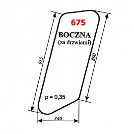 Szyba boczna (za drzwiami) koparki WARYŃSKI KM 251