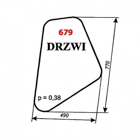 Szyba drzwi koparki WARYŃSKI KM 251