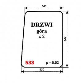 Szyba górna drzwi koparki Białoruś JUMZ2-6K14 (1989)