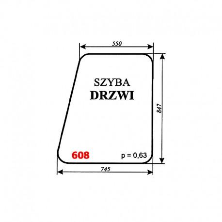 Szyba drzwi kabiny dźwigu DUT-82 (FAMABA Głogów)