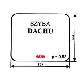Szyba dachu kabiny dźwigu DUT-82 (FAMABA Głogów)