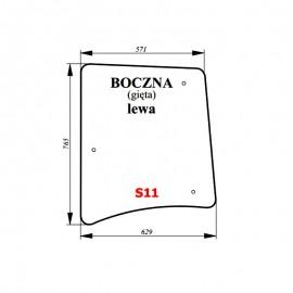 Szyba boczna lewa bezbarwna ciągnika Proxima / Forterra
