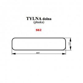 Szyba tylna dolna (zielona) JOHN DEERE Serie 5005 E, 5020, 5100