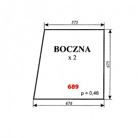 Szyba boczna C-330 TUR kabina Koźmin (Zbigniew Szyszka)
