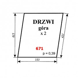 Szyba górna drzwi C-330 TUR kabina Koźmin (Zbigniew Szyszka)