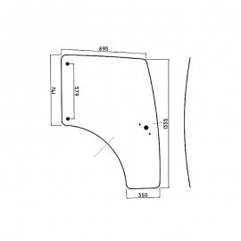 Szyba drzwi lewych / prawych Lamborghini R.1