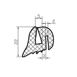 Uszczelka szyby ciągnikowej, typ TS