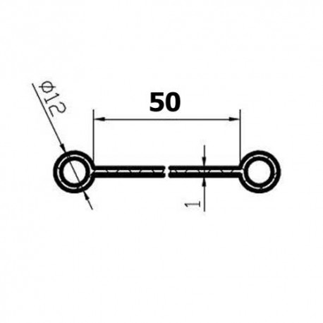 Pas (Kedra) pod kabinę lub zbiornik paliwa, 50 mm