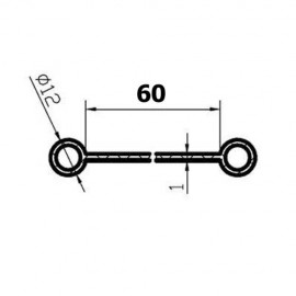 Pas (Kedra) pod kabinę lub zbiornik paliwa, 60 mm