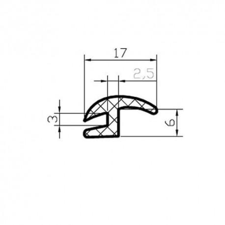 Uszczelka szyby bocznej Opel Kadett (wąski)