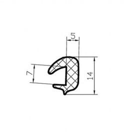 Osłona gumowa na krawędź blachy 7 mm