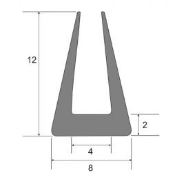 Profil na krawędź blachy 4 mm, typ S-583