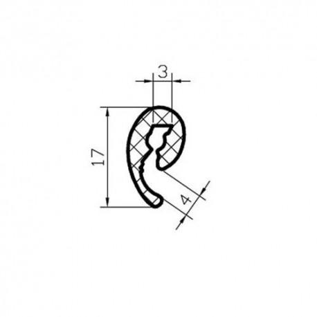 Osłona gumowa krawędzi blachy 2-3 mm